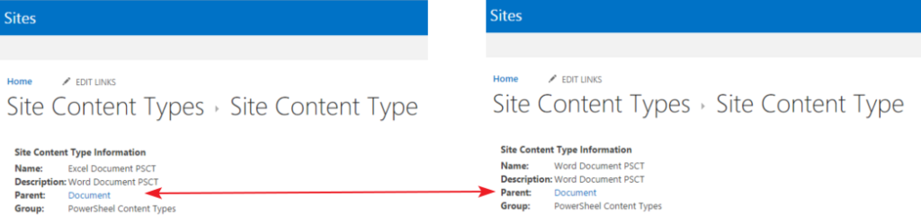 creating a content type with its document template on